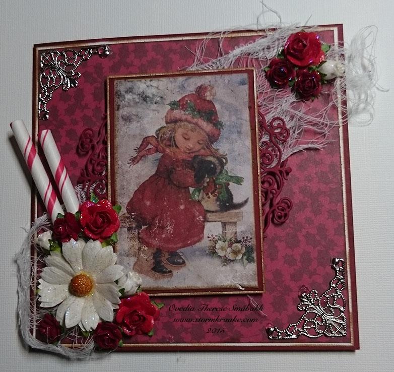 CHRISTMAS CARD - RED - WOC - 001 - OVEDIA THERESE SMÅBAKK