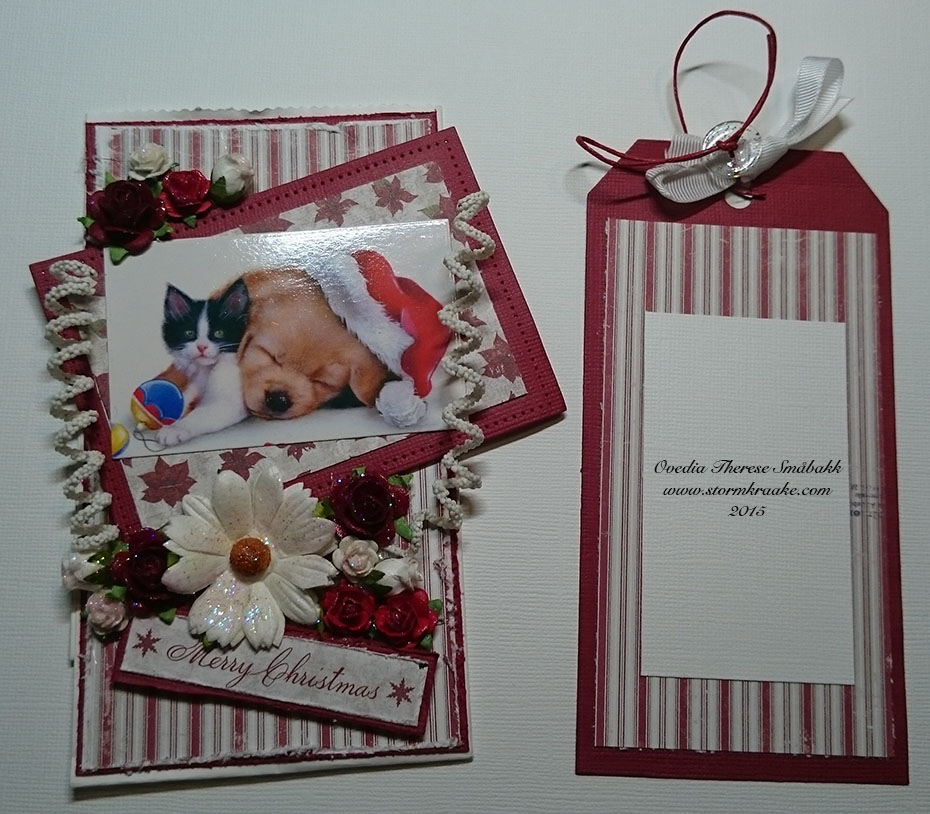 CHRISTMAS - PAPER BAG CARD - MAJA DESIGN - WOC - 002 - OVEDIA THERESE SMÅBAKK