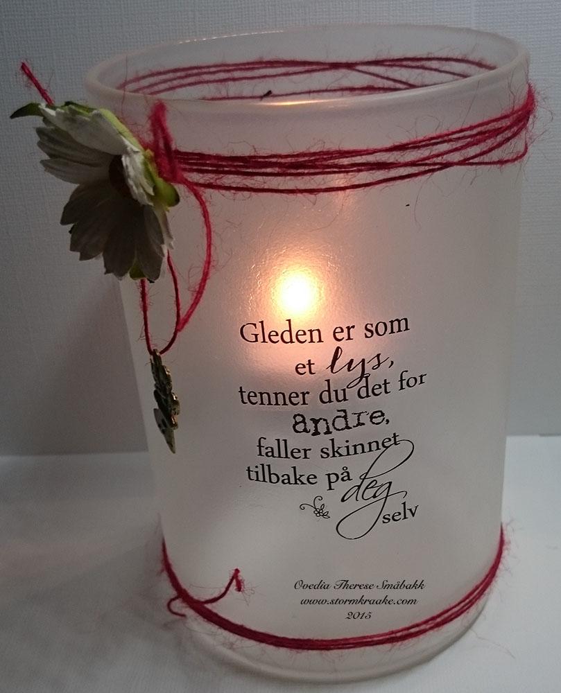 LYSLYKT - GLAS FROST - WOC - 006 - PAPIRLOSJEN - DT OVEDIA THERESE SMÅBAKK